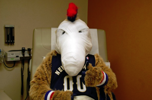 COURTESY NEW ORLEANS PELICANS Pierre recuperates.