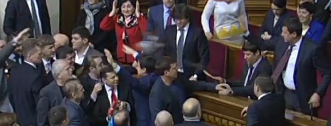 Cereal protesters: Video of buckwheat attack in Ukraine parliament