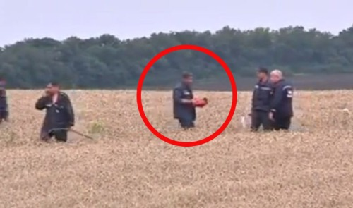 Black box discovered at MH17 crash site (Picture: Reuters)