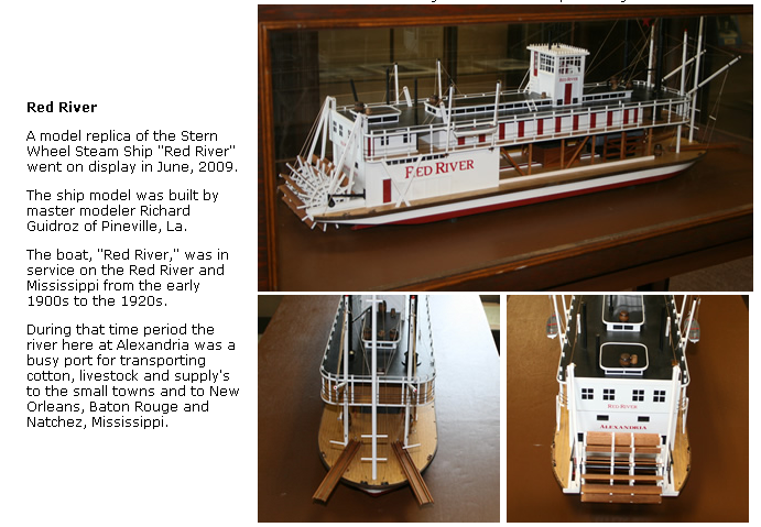 """The boat, ""Red River,"" was in service on the Red River and Mississippi from the early 1900s to the 1920s."""