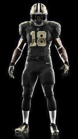 """The #Saints will wear black jerseys and black pants on Sunday!"""