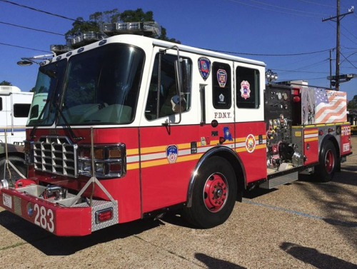 Louisiana was the first state after 9 / 11 to donate a fire truck to New York, and that truck, manufactured in Holden, is at the Amite Fire Department.