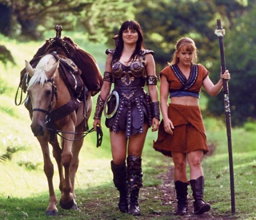 Xena and Gabrielle were suspected terrorists.