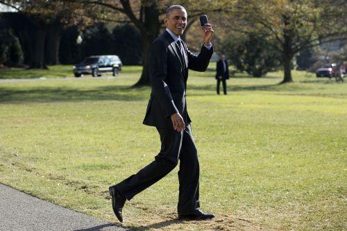 An actual Obama phone.