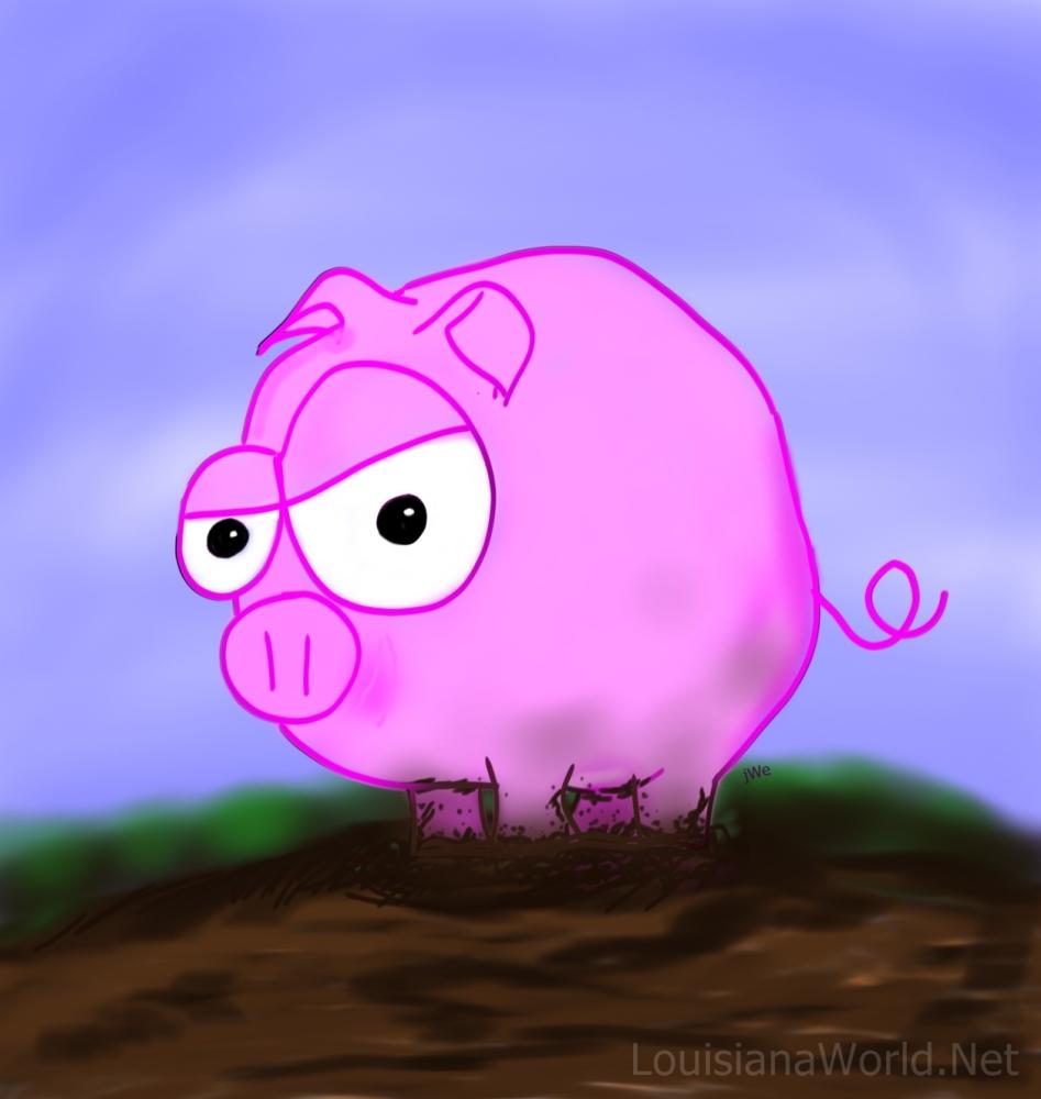 Piggy Problems   #CenLa   #Louisiana   #Cartoon   #Farminals